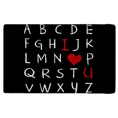 Love Alphabet Apple Ipad 2 Flip Case by Valentinaart
