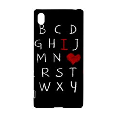 Love Alphabet Sony Xperia Z3+ by Valentinaart
