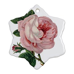 Rose 1078272 1920 Snowflake Ornament (two Sides) by vintage2030