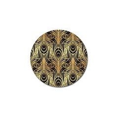 Gold, Black,peacock Pattern,art Nouveau,vintage,belle Epoque,chic,elegant,peacock Feather,beautiful Golf Ball Marker (4 Pack) by 8fugoso