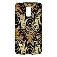 Gold, Black,peacock Pattern,art Nouveau,vintage,belle Epoque,chic,elegant,peacock Feather,beautiful Galaxy S5 Mini by 8fugoso