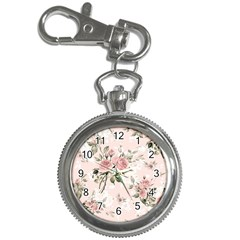 Pink Shabby Chic Floral Key Chain Watches by 8fugoso