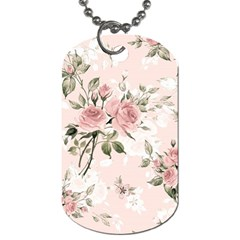 Pink Shabby Chic Floral Dog Tag (one Side) by 8fugoso
