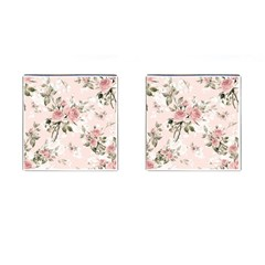 Pink Shabby Chic Floral Cufflinks (square) by 8fugoso