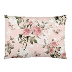 Pink Shabby Chic Floral Pillow Case by 8fugoso