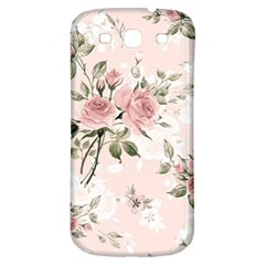 Pink Shabby Chic Floral Samsung Galaxy S3 S Iii Classic Hardshell Back Case by 8fugoso