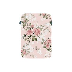 Pink Shabby Chic Floral Apple Ipad Mini Protective Soft Cases by 8fugoso