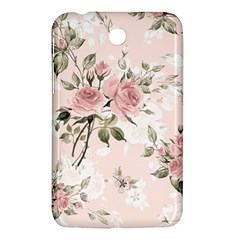 Pink Shabby Chic Floral Samsung Galaxy Tab 3 (7 ) P3200 Hardshell Case  by 8fugoso