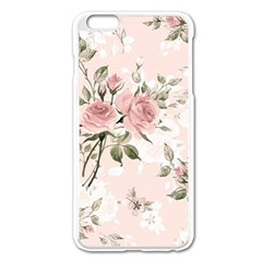 Pink Shabby Chic Floral Apple Iphone 6 Plus/6s Plus Enamel White Case by 8fugoso