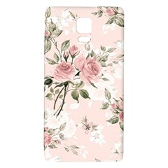 Pink Shabby Chic Floral Galaxy Note 4 Back Case by 8fugoso