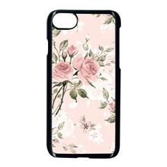 Pink Shabby Chic Floral Apple Iphone 8 Seamless Case (black) by 8fugoso