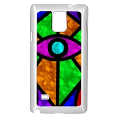 Illuminati Abstract Samsung Galaxy Note 4 Case (white) by vwdigitalpainting
