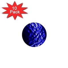 Blue Ripple 1  Mini Buttons (10 Pack)  by vwdigitalpainting