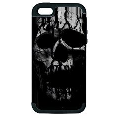 Black And Grey Nightmare Apple Iphone 5 Hardshell Case (pc+silicone) by vwdigitalpainting