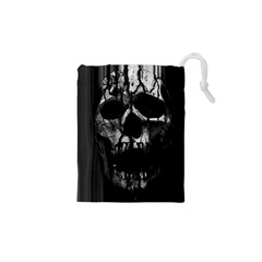 Black And Grey Nightmare Drawstring Pouches (xs)  by vwdigitalpainting
