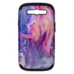 Marbled,ultraviolet,violet,purple,pink,blue,white,stone,marble,modern,trendy,beautiful Samsung Galaxy S Iii Hardshell Case (pc+silicone) by 8fugoso