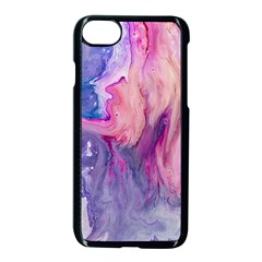 Marbled,ultraviolet,violet,purple,pink,blue,white,stone,marble,modern,trendy,beautiful Apple Iphone 7 Seamless Case (black) by 8fugoso
