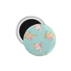 Mint,shabby Chic,floral,pink,vintage,girly,cute 1 75  Magnets by 8fugoso