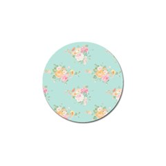 Mint,shabby Chic,floral,pink,vintage,girly,cute Golf Ball Marker (10 Pack) by 8fugoso