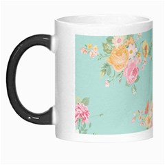 Mint,shabby Chic,floral,pink,vintage,girly,cute Morph Mugs by 8fugoso