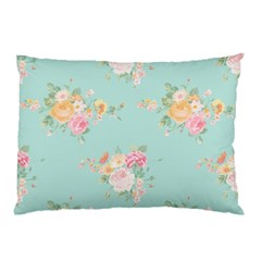 Mint,shabby Chic,floral,pink,vintage,girly,cute Pillow Case by 8fugoso