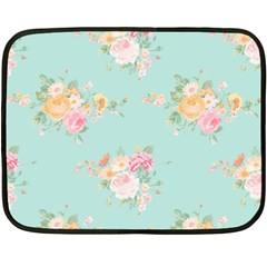 Mint,shabby Chic,floral,pink,vintage,girly,cute Fleece Blanket (mini) by 8fugoso