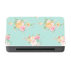 Mint,shabby Chic,floral,pink,vintage,girly,cute Memory Card Reader With Cf by 8fugoso