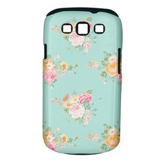 Mint,shabby Chic,floral,pink,vintage,girly,cute Samsung Galaxy S Iii Classic Hardshell Case (pc+silicone) by 8fugoso