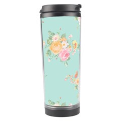 Mint,shabby Chic,floral,pink,vintage,girly,cute Travel Tumbler by 8fugoso