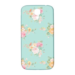 Mint,shabby Chic,floral,pink,vintage,girly,cute Samsung Galaxy S4 I9500/i9505  Hardshell Back Case by 8fugoso