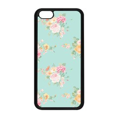 Mint,shabby Chic,floral,pink,vintage,girly,cute Apple Iphone 5c Seamless Case (black) by 8fugoso