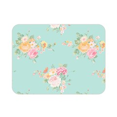 Mint,shabby Chic,floral,pink,vintage,girly,cute Double Sided Flano Blanket (mini)  by 8fugoso
