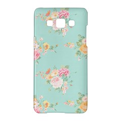 Mint,shabby Chic,floral,pink,vintage,girly,cute Samsung Galaxy A5 Hardshell Case  by 8fugoso