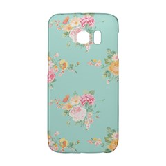Mint,shabby Chic,floral,pink,vintage,girly,cute Galaxy S6 Edge by 8fugoso