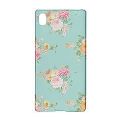 Mint,shabby Chic,floral,pink,vintage,girly,cute Sony Xperia Z3+ by 8fugoso