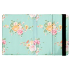 Mint,shabby Chic,floral,pink,vintage,girly,cute Apple Ipad Pro 12 9   Flip Case by 8fugoso