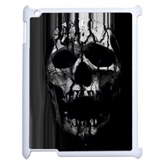 Black And Grey Nightmare Apple Ipad 2 Case (white) by vwdigitalpainting