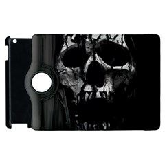 Black And Grey Nightmare Apple Ipad 3/4 Flip 360 Case by vwdigitalpainting