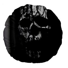 Black And Grey Nightmare Large 18  Premium Flano Round Cushions