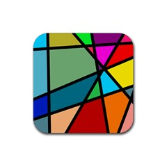 Modern Abstract Rubber Coaster (square)  by vwdigitalpainting