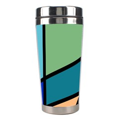 Modern Abstract Stainless Steel Travel Tumblers by vwdigitalpainting