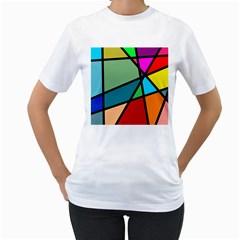 Modern Abstract Women s T Shirt (white)
