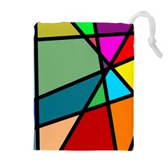 Modern Abstract Drawstring Pouches (extra Large) by vwdigitalpainting
