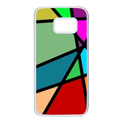 Modern Abstract Samsung Galaxy S7 White Seamless Case by vwdigitalpainting