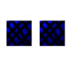 Abstract Plaid Cufflinks (square)
