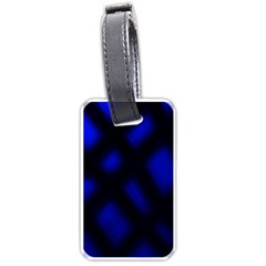Abstract Plaid Luggage Tags (two Sides)