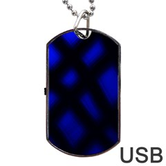 Abstract Plaid Dog Tag Usb Flash (one Side) by vwdigitalpainting