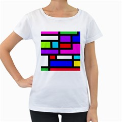Dutch Modern Abstract Women s Loose Fit T Shirt (white) by vwdigitalpainting