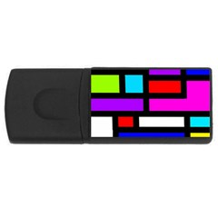Dutch Modern Abstract Rectangular Usb Flash Drive by vwdigitalpainting