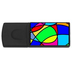 Abstract Curves Rectangular Usb Flash Drive by vwdigitalpainting